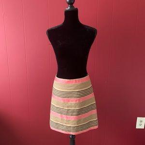 LOFT Striped Skirt - Size 4